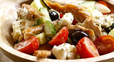 Greek Smoked Mackerel Salad