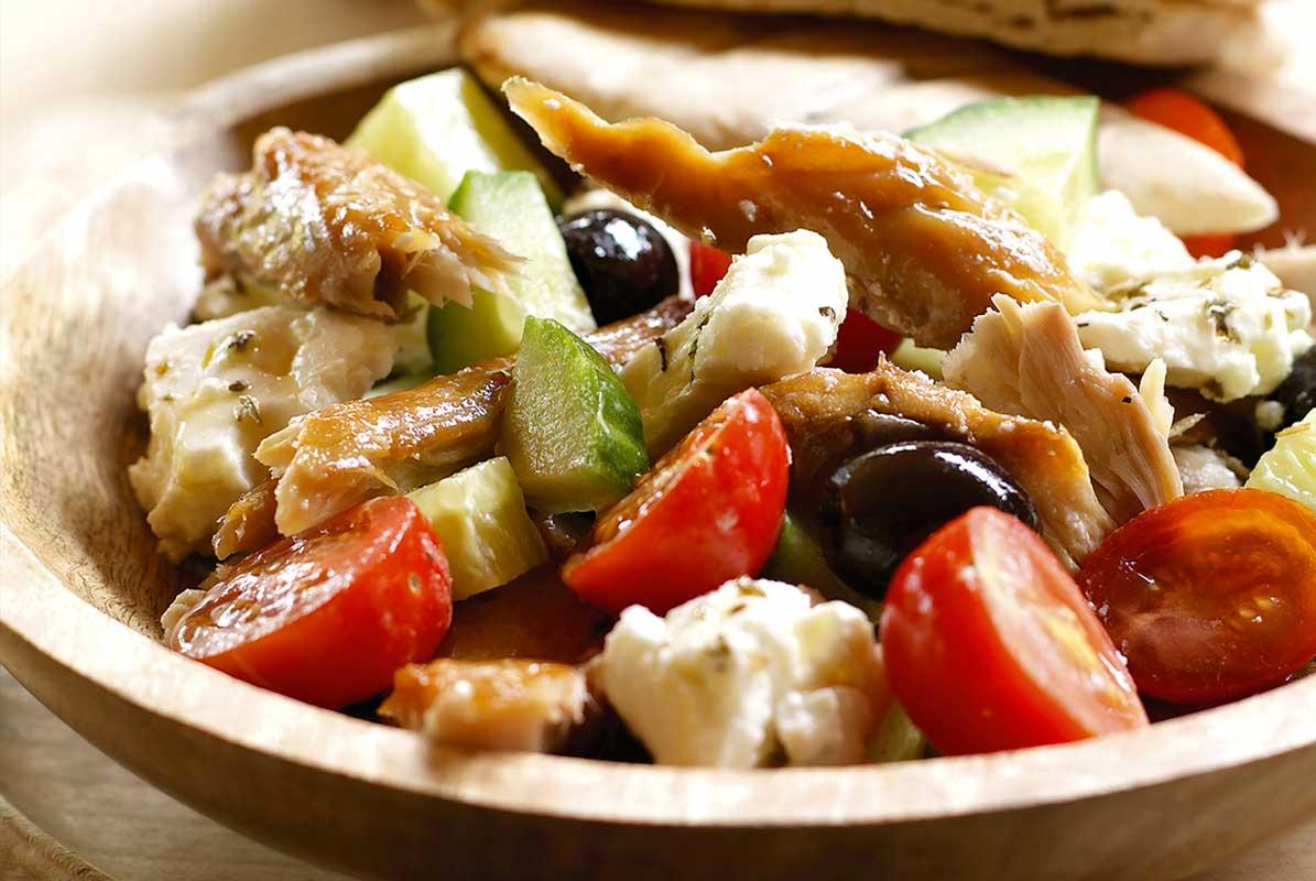 Greek Smoked Mackerel Salad