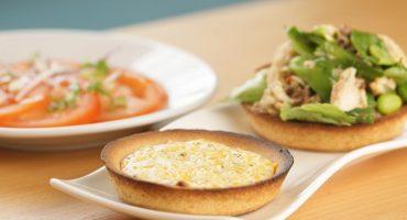 Mackerel and Cheese Tarts with Mackerel Salad