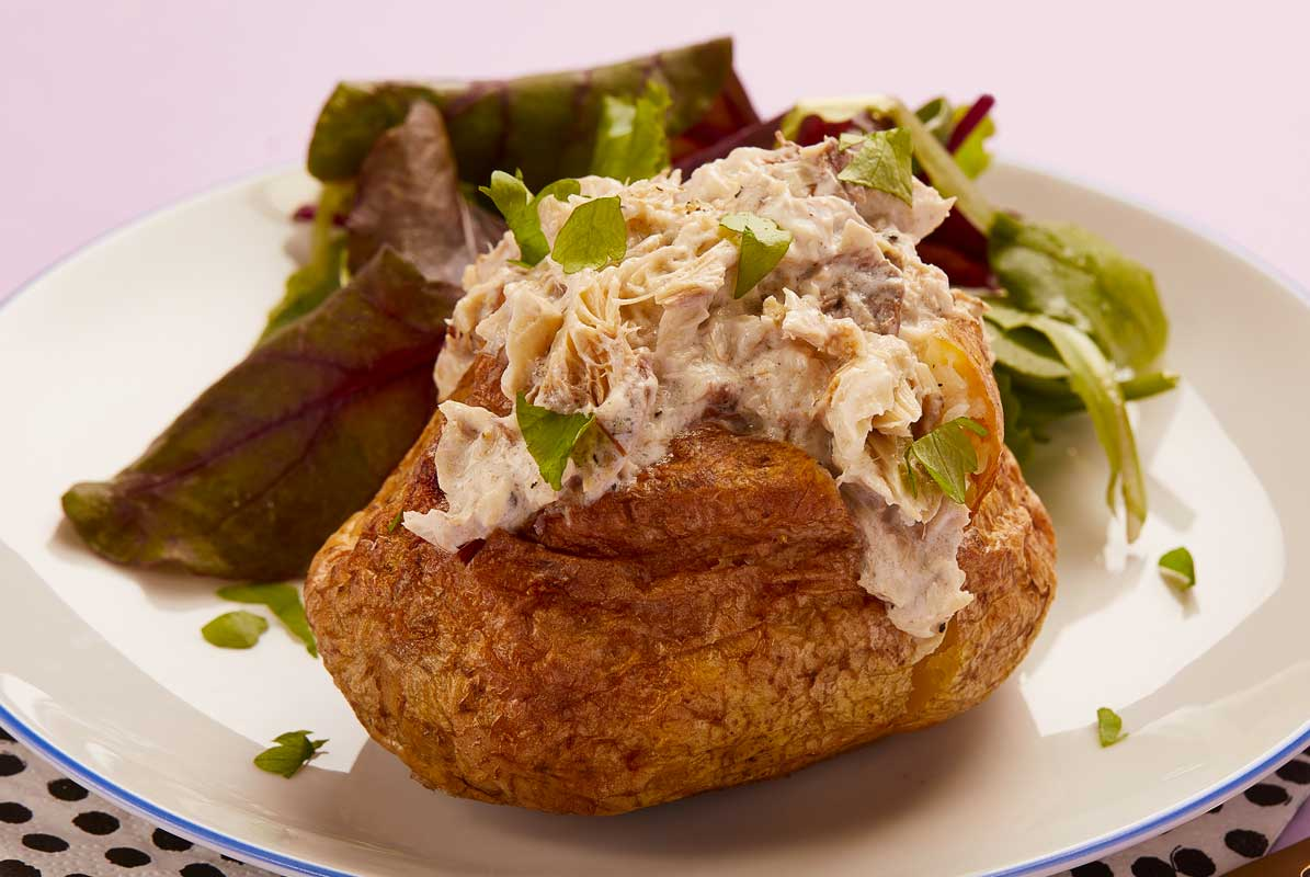 Smoked Mackerel Baked Potato