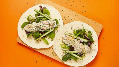 Smoked Mackerel Salad Wrap